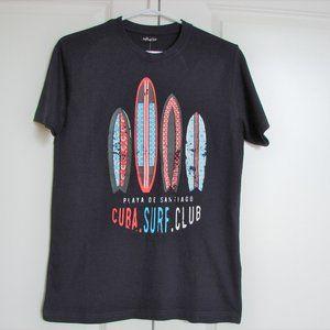 🌈3/$30 Graphic T-shirt Cuba Surf Club Beach ~ NWT